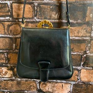 Vintage 1940s Evans Elegance Black Leather Purse
